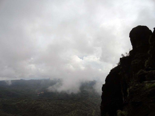 Dhupgarh – The sunrise point at dusk with bellowing clouds creating mystery and magic