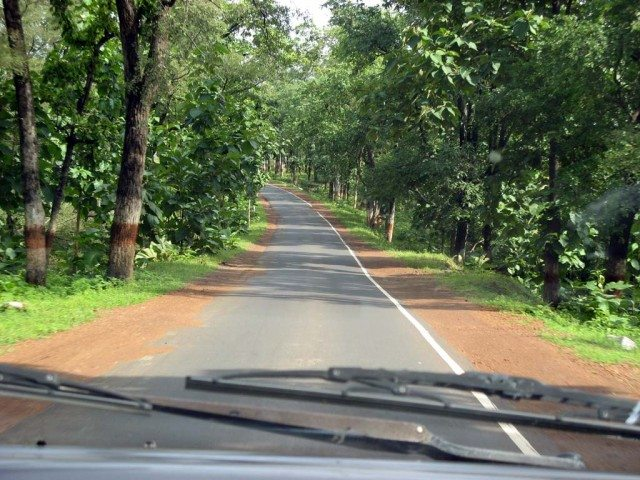 The picturesque drive from Bhimbhetka to Pachmarhi