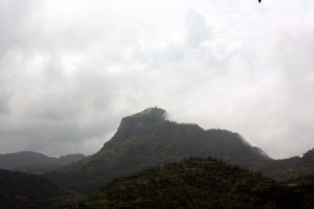 Misty hills from Priyadarshini view point
