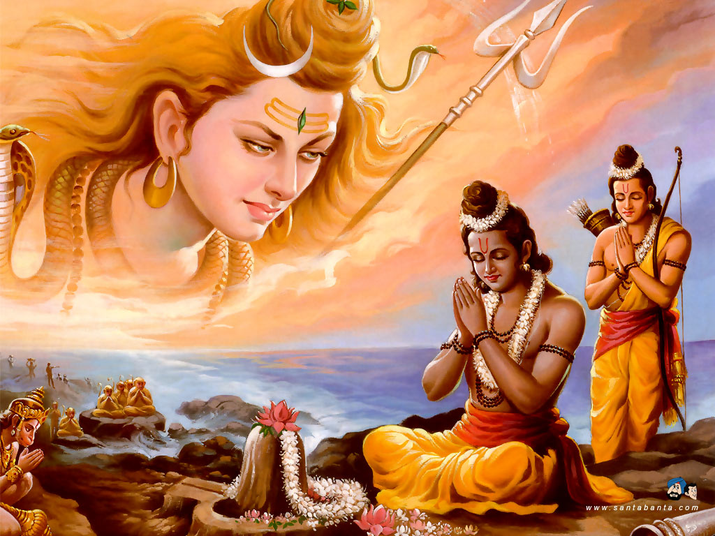 Lord Rama and Lord Shiva