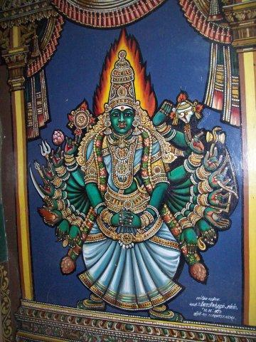 Another Painting in Thayumanaswamy Temple