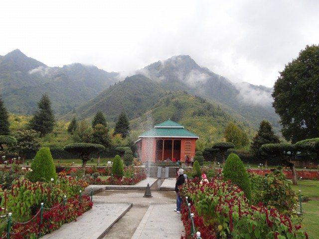 The famed garden of Chashma Shahi