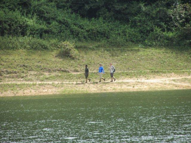 Foreigners completing their Trek inside the sanctuary as we reach back