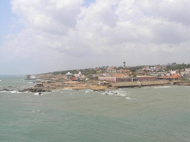 Kanyakumari - India's southern most tip from Sea