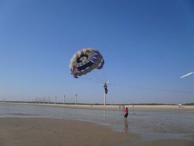 Parasailing at Mandvi Beach