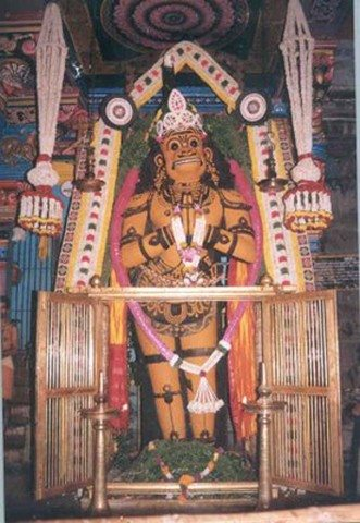 Lord Anjaneya in Suchindram temple