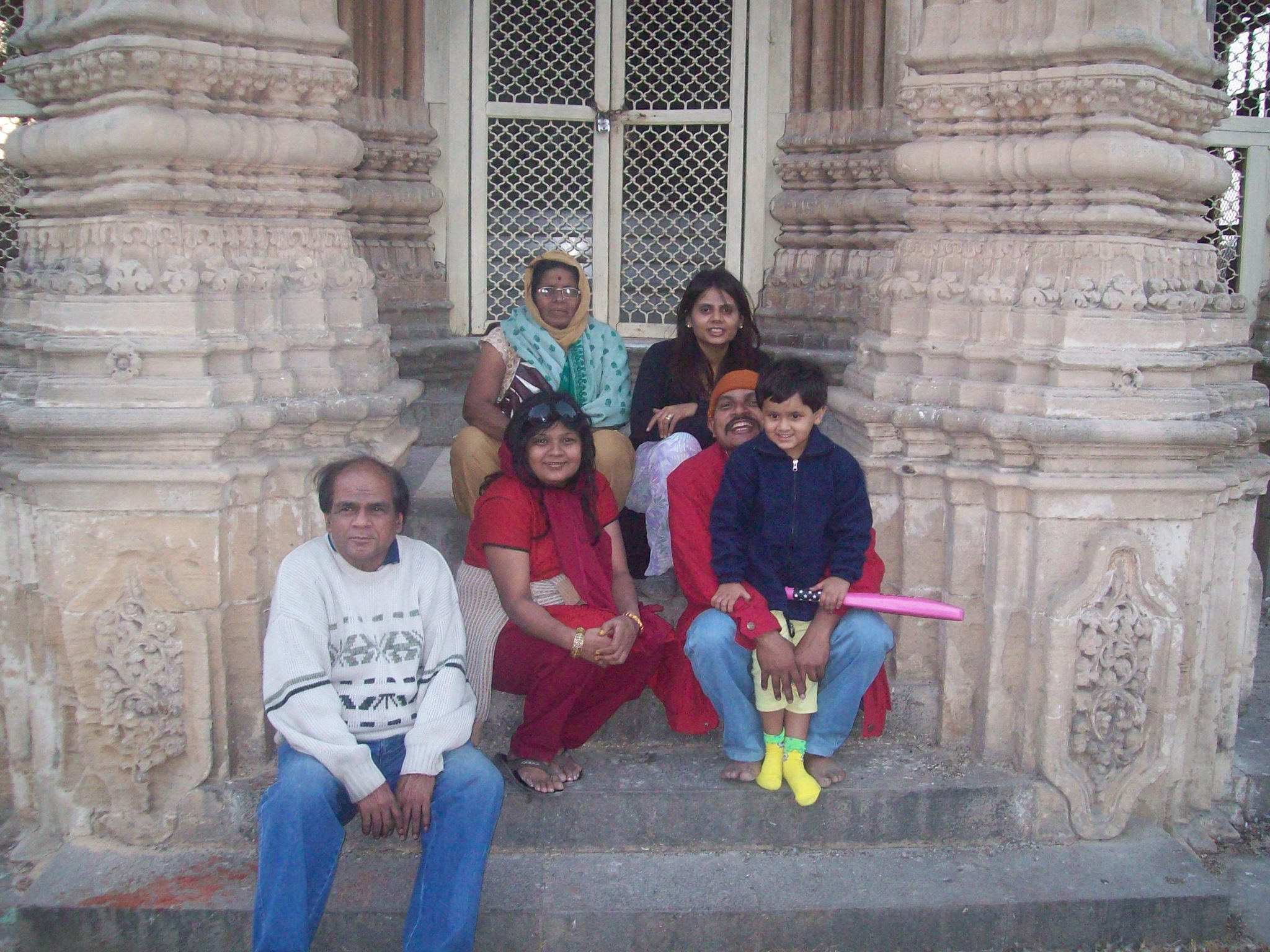 Mahabat Maqbara with family