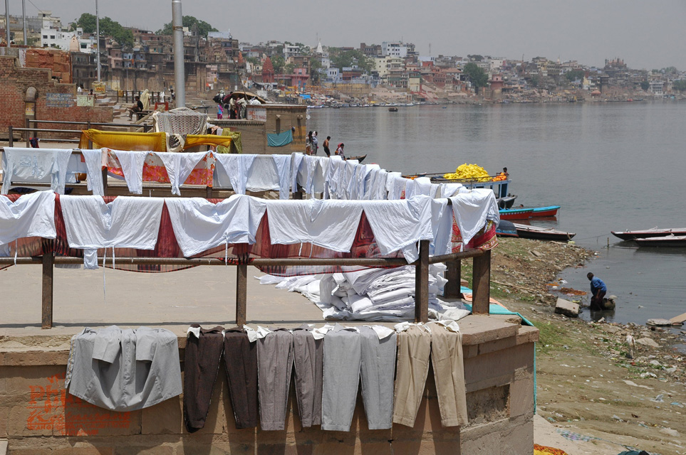 23. Washing clothes in ganges