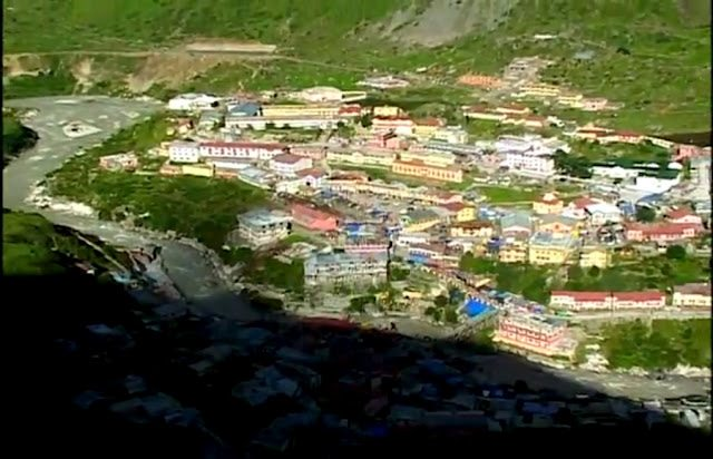 Badrinath from above the hill