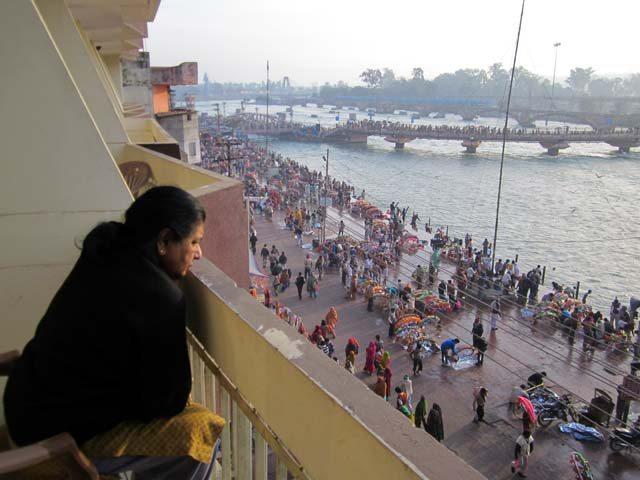 Ganga Ghat frm Balcony