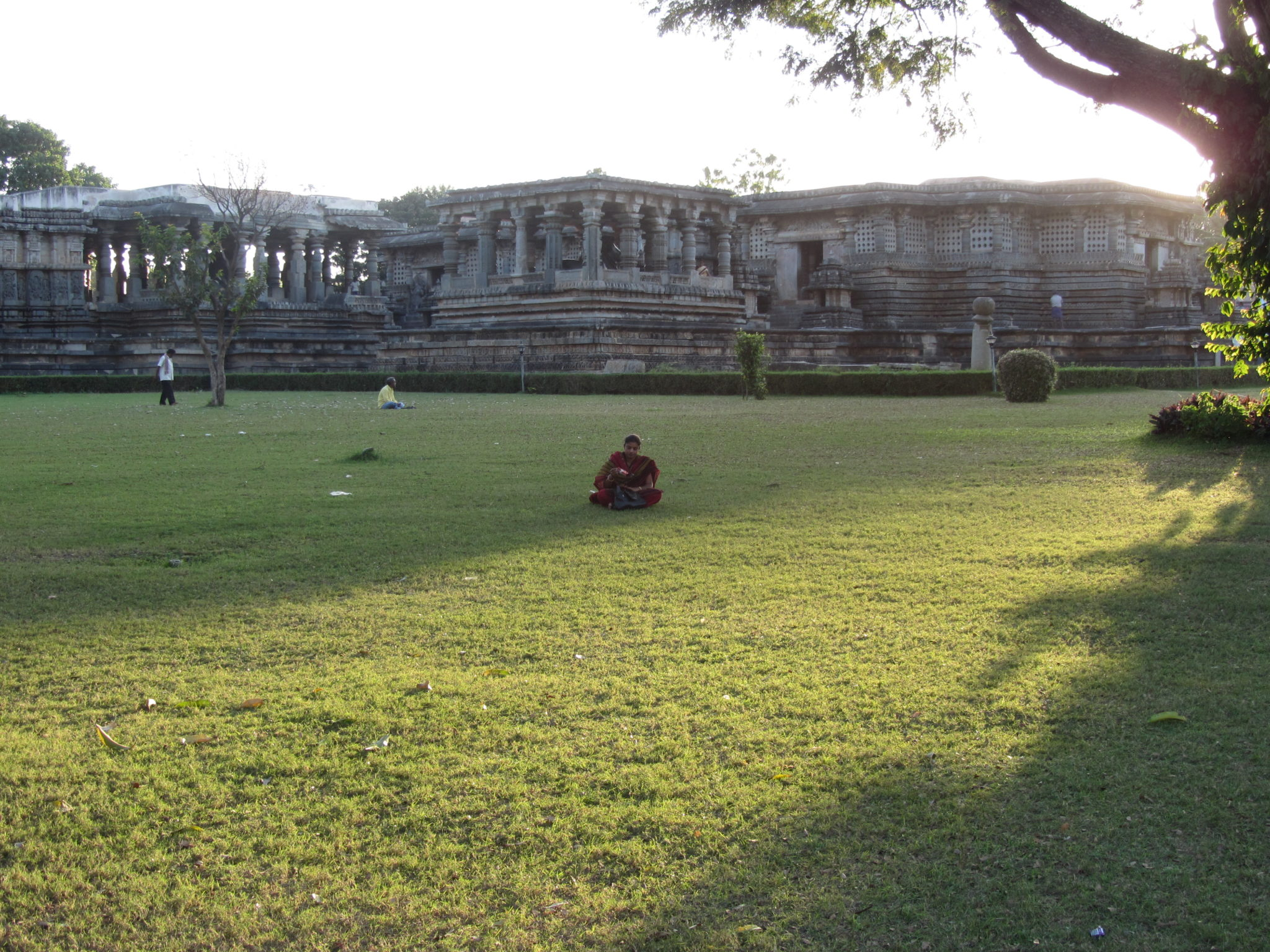 The-beautiful-maintained-lawns-at-Halebeedu-temple-complex...