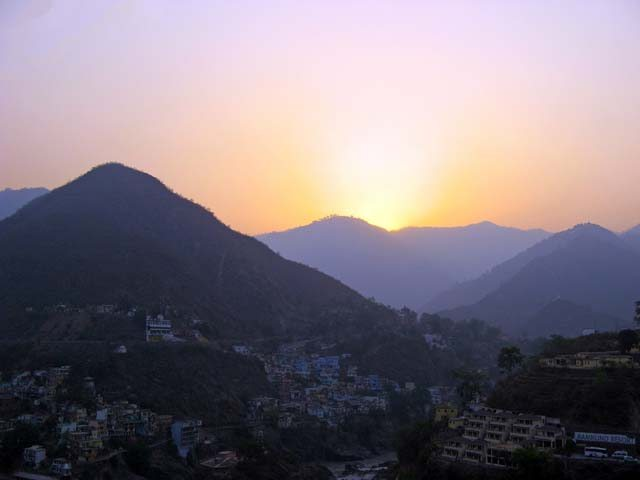 Day dawns over at Devprayag; first glimpse of Devbhumi.