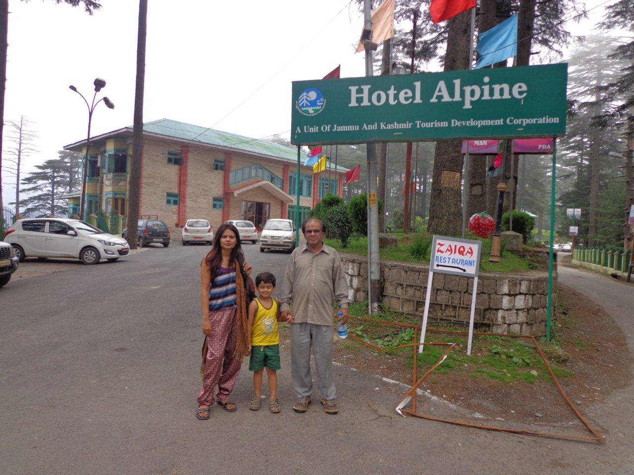 Hotel Alpine - In the Eco park, highest place in Patnitop , Best place to stay here.