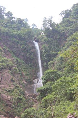 A beautiful waterfall on our way to Renukaji