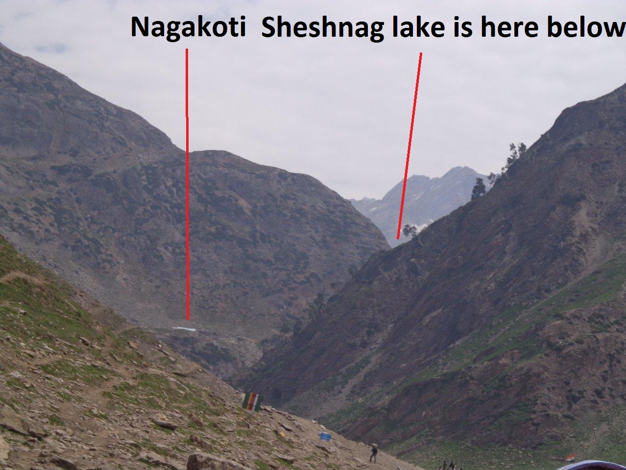 Nagakoti And Sheshnag from the road after Zajibal.