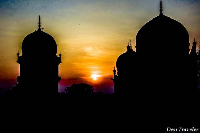 Qutub Shahi Tombs Sunset Hyderabad