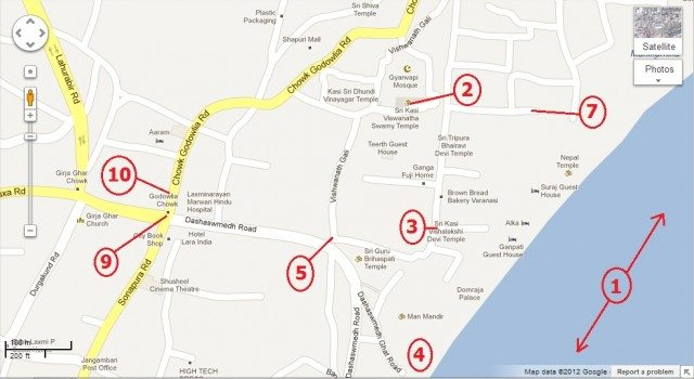 TEMPLES OF VARANASI KASHI Kashi Vishwanath Temple Visalakshi - Varanasi map