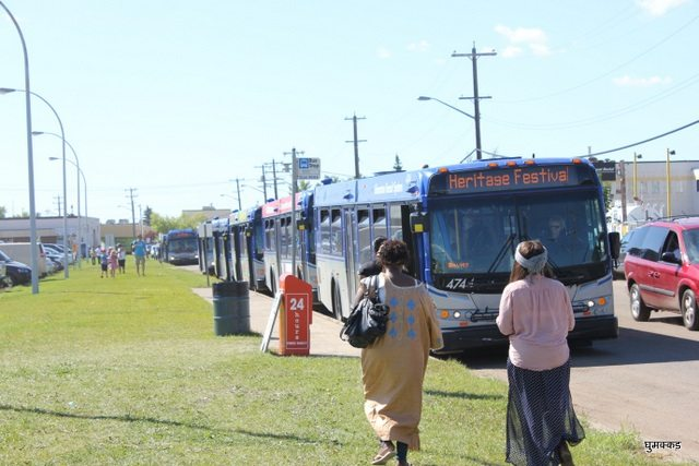 Buses waiting for Passengers