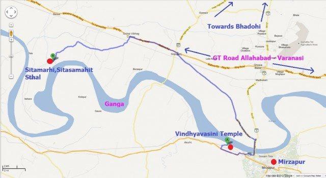 Sitamarhi , Sita Samahit Sthal , UP Map