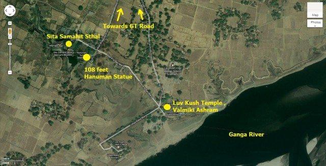 Sitamarhi , Sita Samahit Sthal :- Map