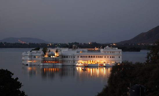 Lake Palace from our Hotel terrace