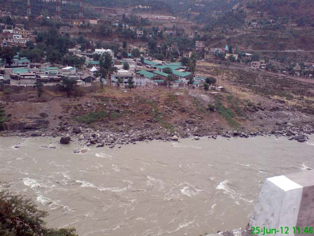 Chinab river in route