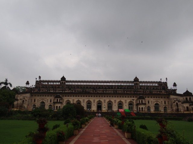 The Majestic Bada Imambada under the Monsoon Clouds