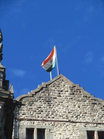 Indian Flag at Indian Institute of Advanced Study