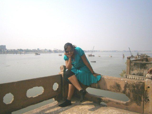 रामनगर फोर्ट से दिखाई देता गंगा का स्वरुप