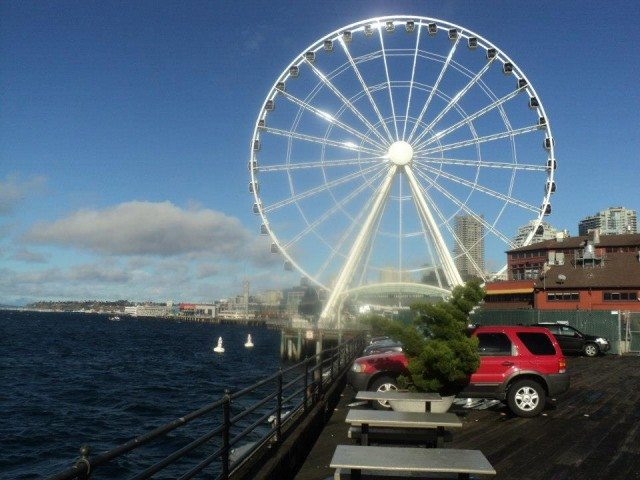 Merry go round at  Seattle Sea Shore