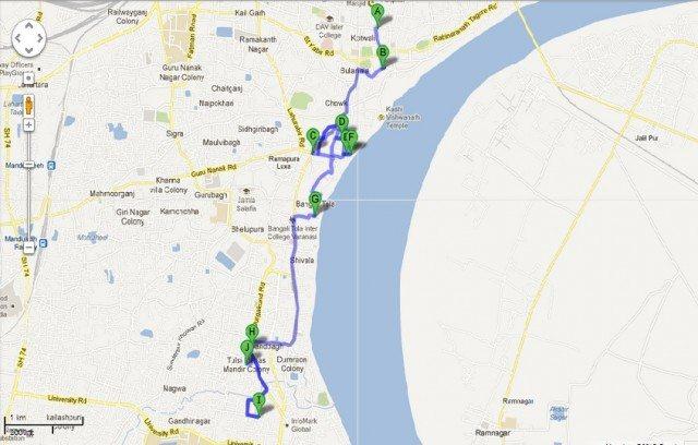 IMPORTANT TEMPLES OF VARANASI Ghumakkar Inspiring Travel - Varanasi map