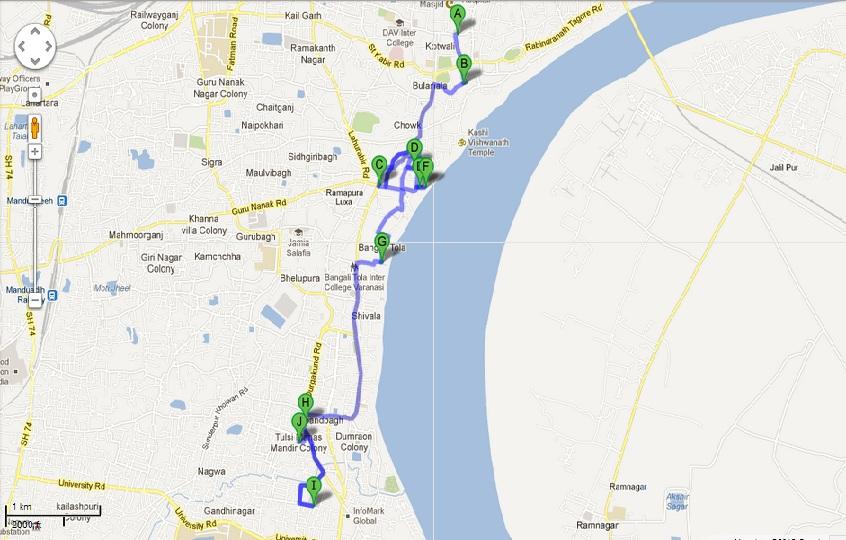 Temple Map Varanasi