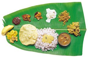 Kerala style food (Courtesy www.tourismofkerala.com)