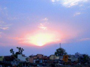 ऋषिकेश के पास सूर्यास्त