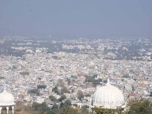Beautiful Udaipur city from Karni Mata temple