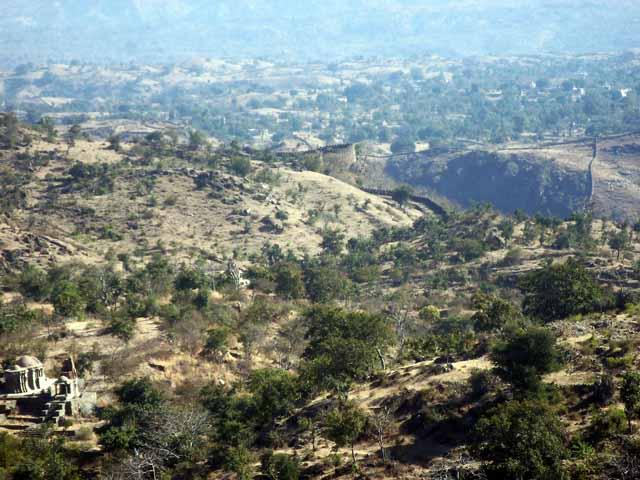 View from the top of Kumbhalgarh
