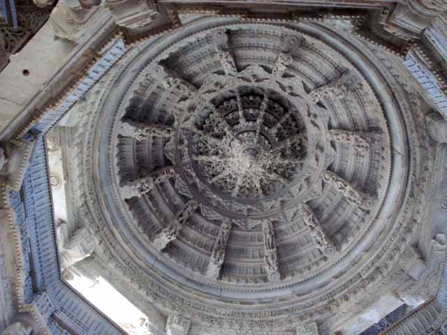 The beautiful Ceiling of the Jain Temple