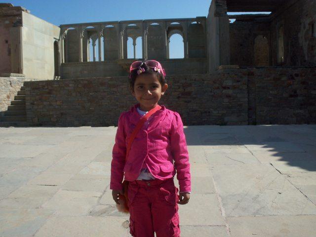 Little devi Pavani at Kumbha Mahal