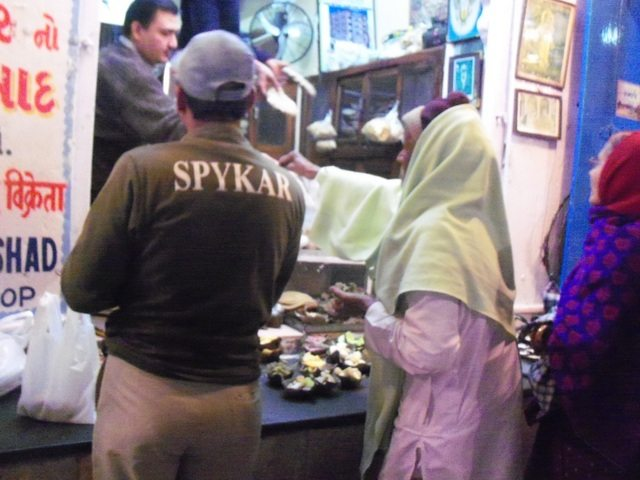 A Prashad selling shop in the Bazzar