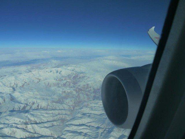 Flying over Afghanistan