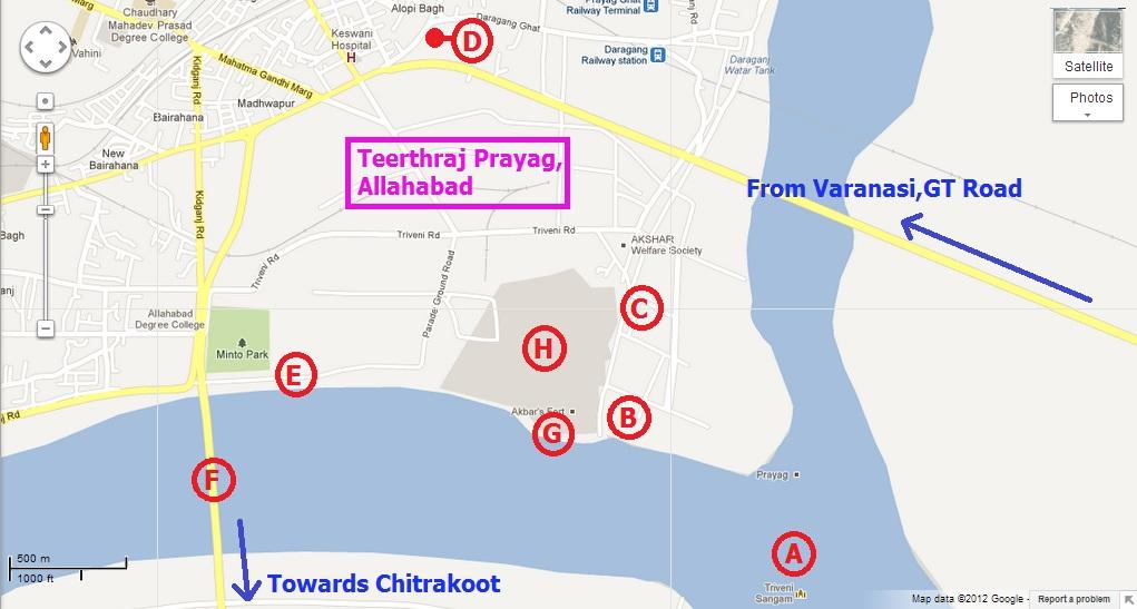 Allahabad Map Ghumakkar Inspiring Travel Experiences - Allahabad map