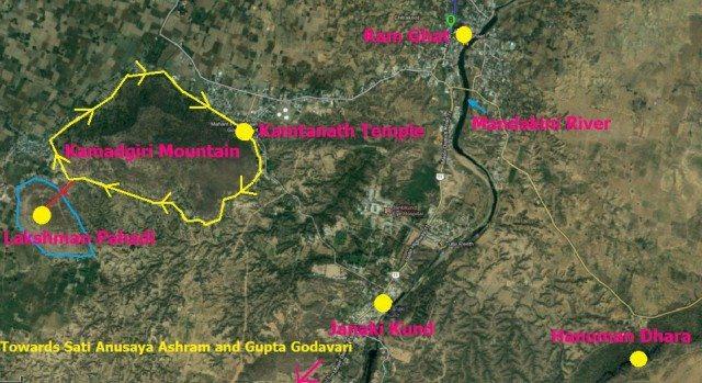 Chitrakoot Map