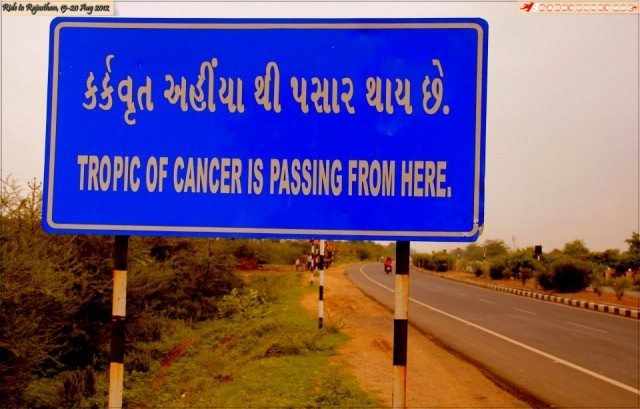 Crossing the Tropic Of Cancer