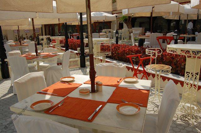 Palkikhana Restaurant in Manik Chowk courtyard at City Palace Udaipur