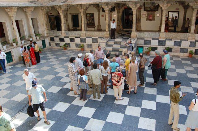 Rai Angan (Royal Courtyard) where several Maharana's coronation have been taking place.