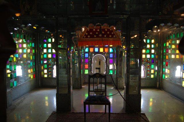 Coloured glasses were a favourite of Maharanas