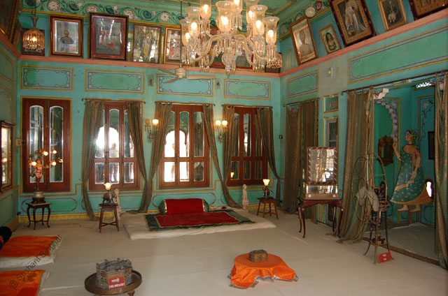 Royal room inside City Palace.