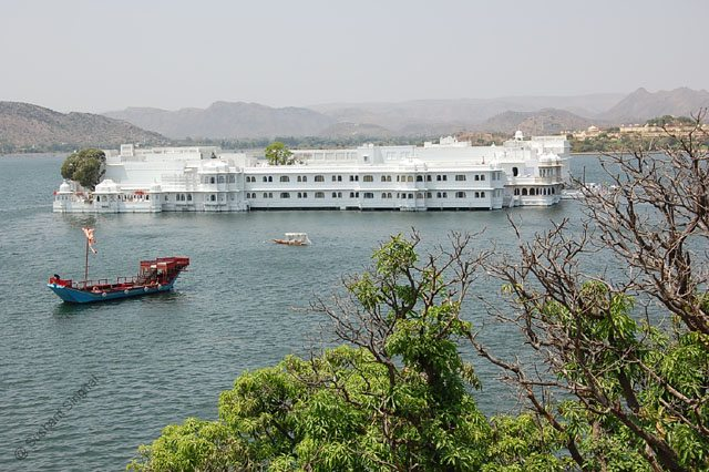 The soothing presence of Lake Pichhola and the Lake Palace as seen from Sunset Terrace, City Palace