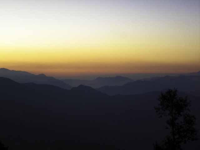An evening in Mukteshwar ,Sunset at 6:11 PM