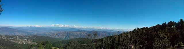 Panoramic view of Himalayan Ranges